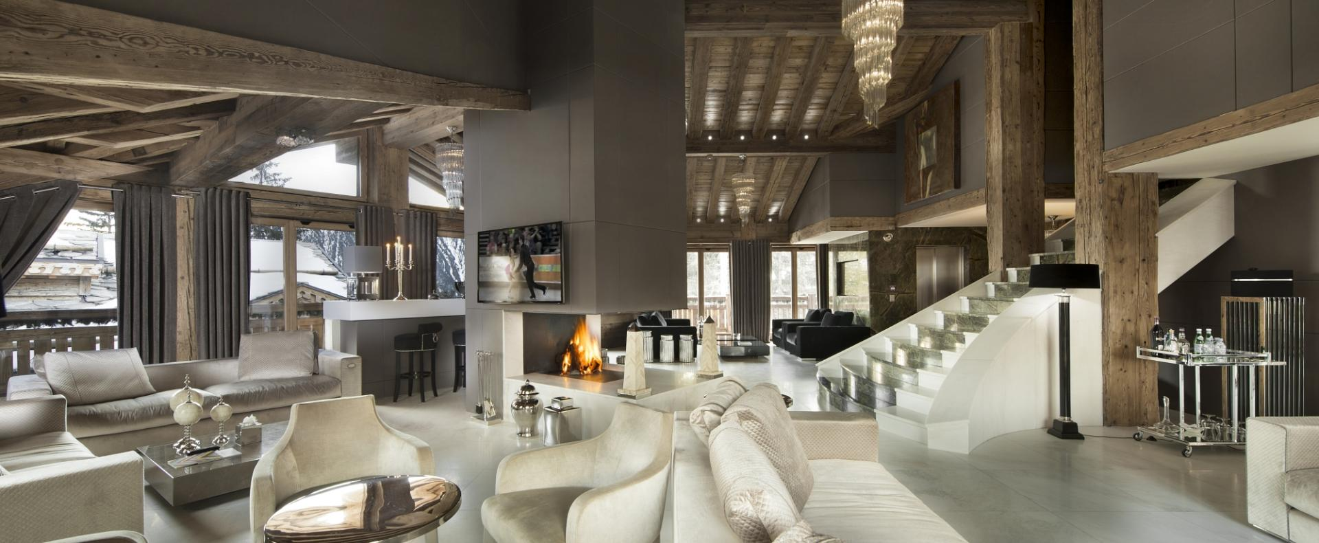 Chalet tahoe ski courchevel 1850 france ultimate luxury for Interieur chalet