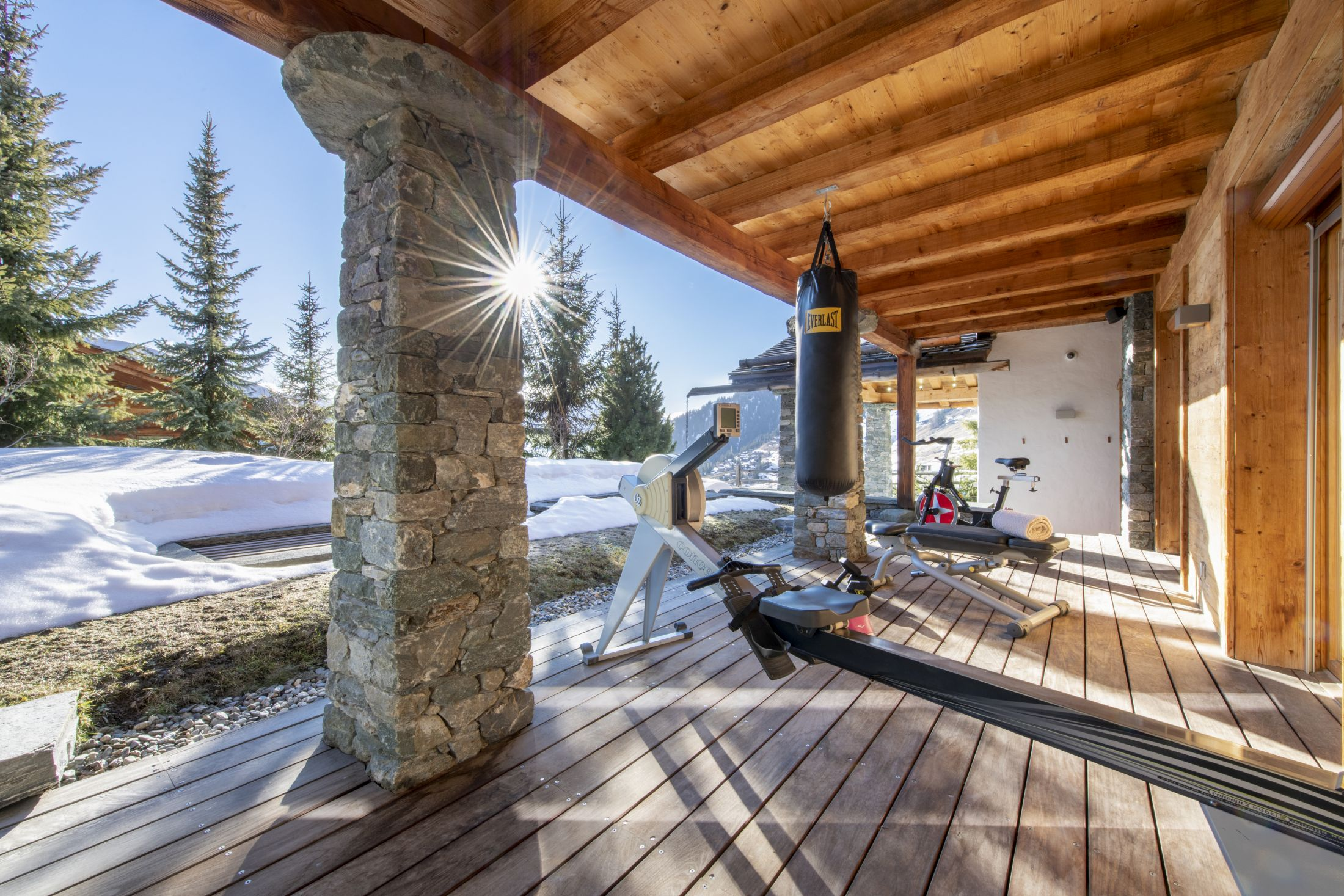 outdoor gym, Chalet Spa, Verbier yoga holiday, yoga in the alps, Verbier fitness