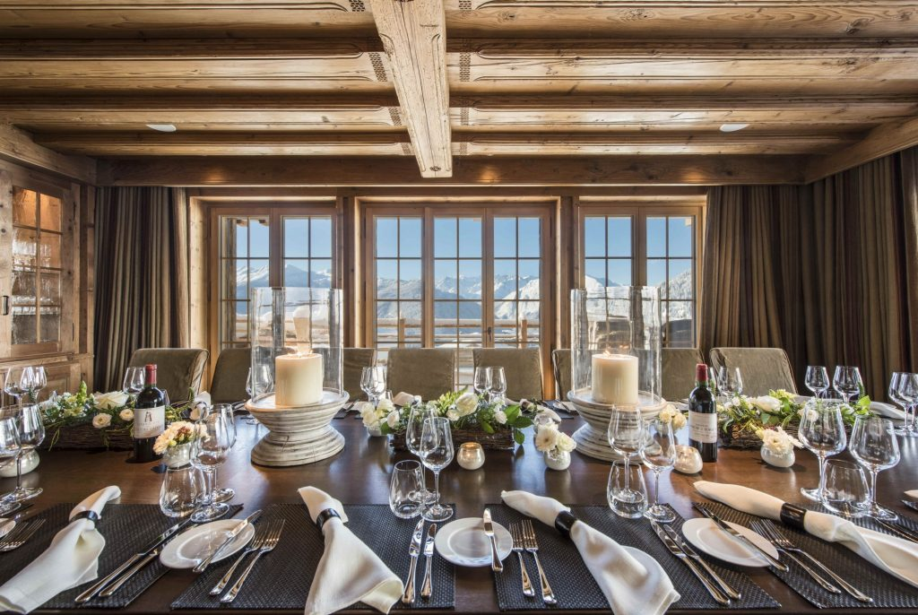 Chalet Chouqui dining table, Verbier