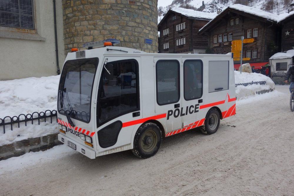 Electric Police vehicle in Zermtt. Credit: Pinterest