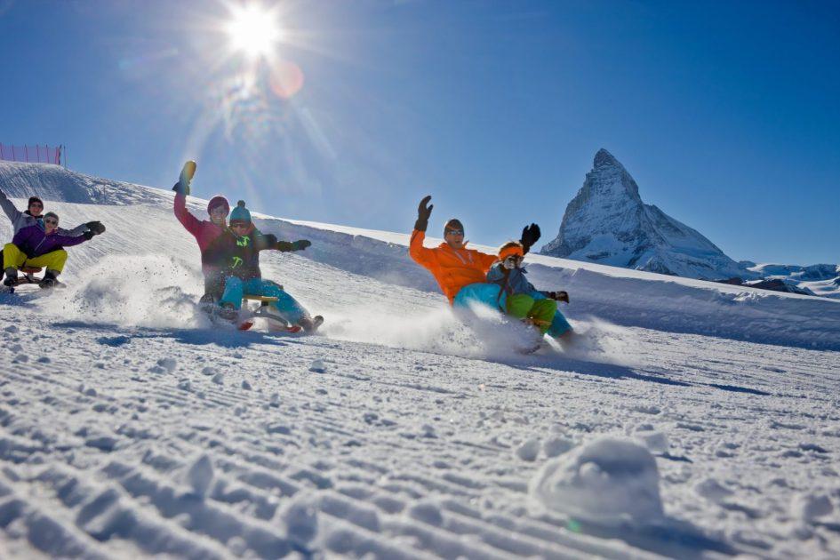Having fun with the Kids in Zermatt
