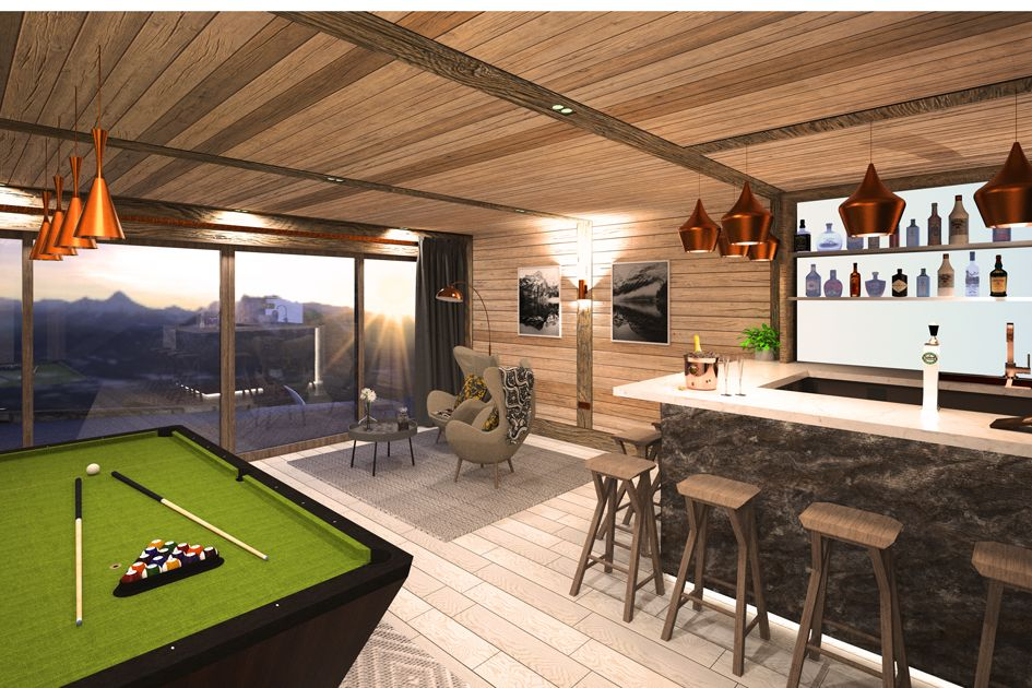 Corporate Chalet Sapphire with pool table