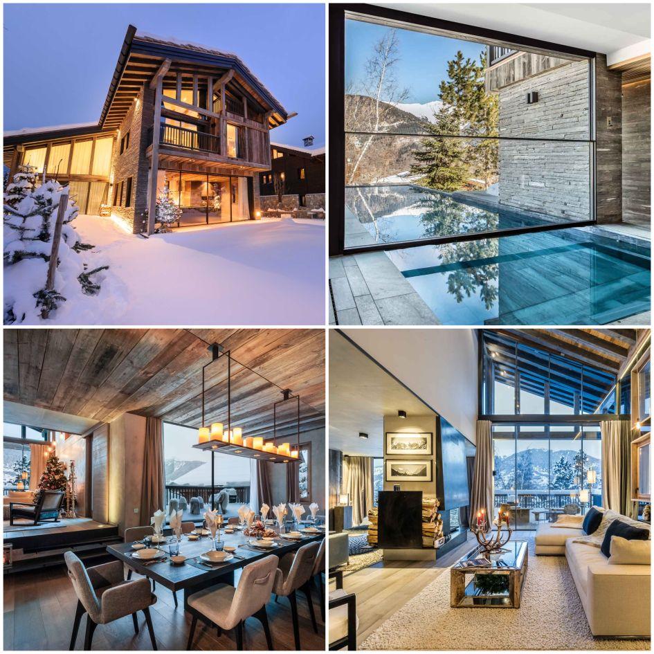 Luxury chalet, Courchevel Le Praz, skiing