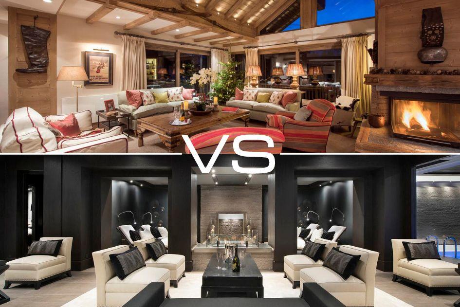 Traditional vs Modern Luxury Ski Chalets