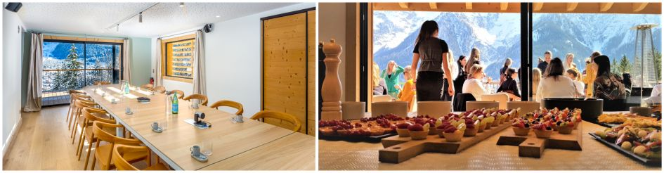 Corporate ski holiday, corporate trip, luxury chalet