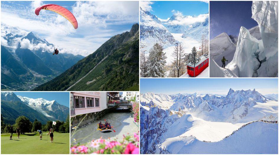 Chamoinx in the Summer, Chamonix in the Winter, Chamonix all year round