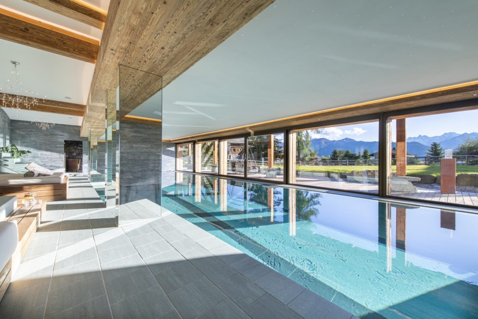 luxury chalet in Verbier with a swimming pool, best chalet in Verbier with a pool, best luxury chalets in the Alps with a swimming pool