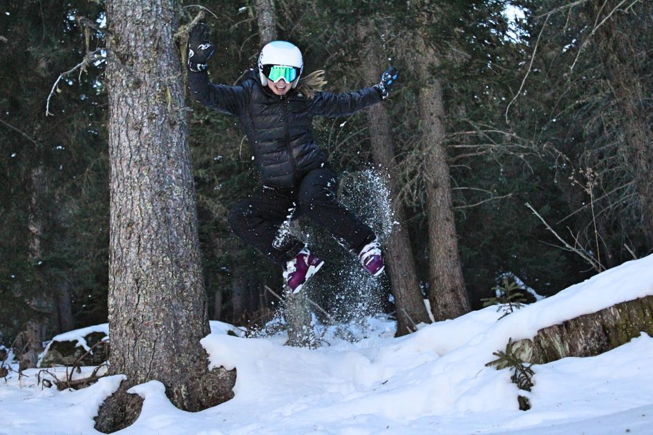 skiing, jump, The Three Valleys
