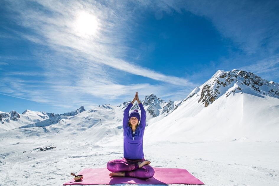 yoga in the Alps, Mindfulness in the Alps, Ski Holiday, Courchevel