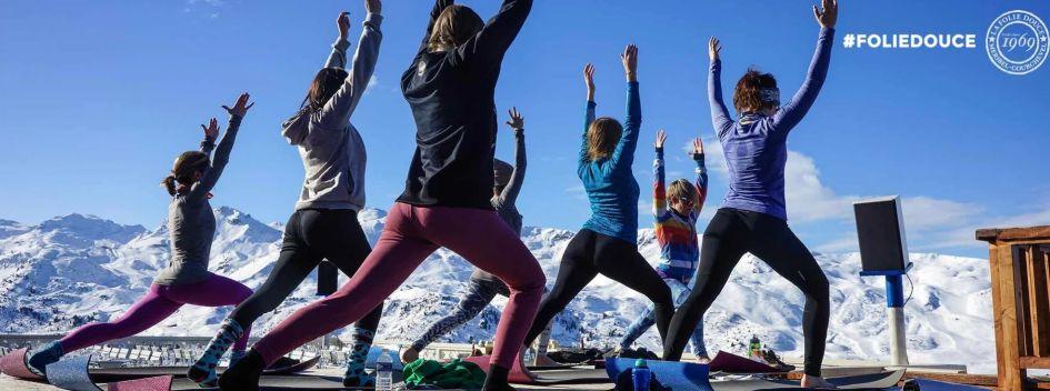 Yoga mindfulness, ski yoga, yoga in the Alps