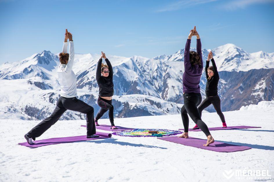 ski yoga, yoga in the Alps, ski holiday