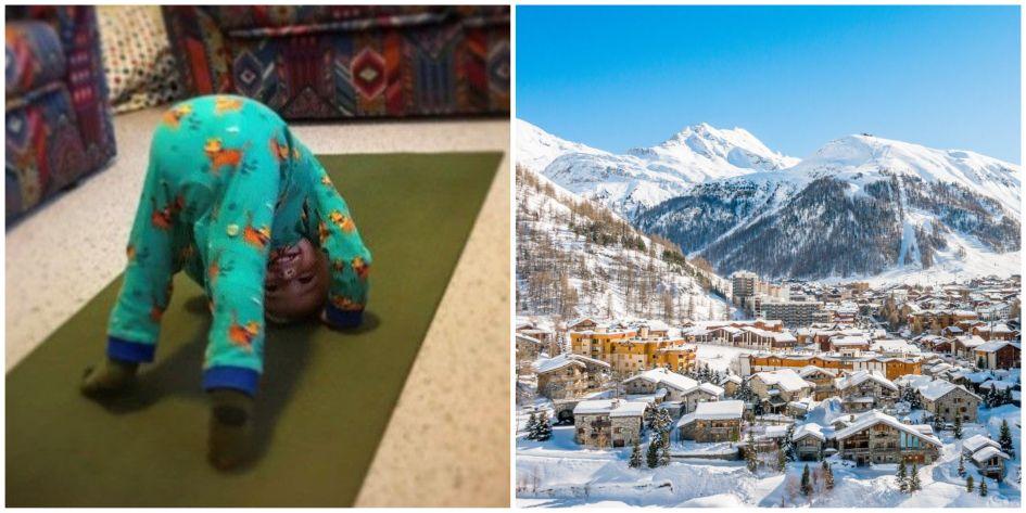 val d'isere, ski yoga , skiing, ski holiday