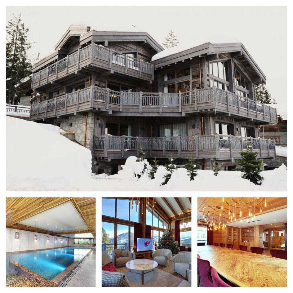 Chalet Aurore, Courchevel 1850, indoor swimming pool, luxury ski chalet 2020