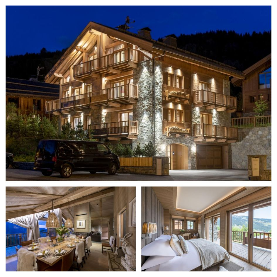Chalet La Loze, luxury ski chalet, Meribel luxury chalet, open-plan living area, mountain views