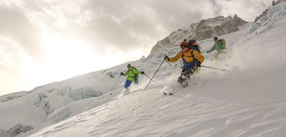 ski resort, Chamonix, skiers