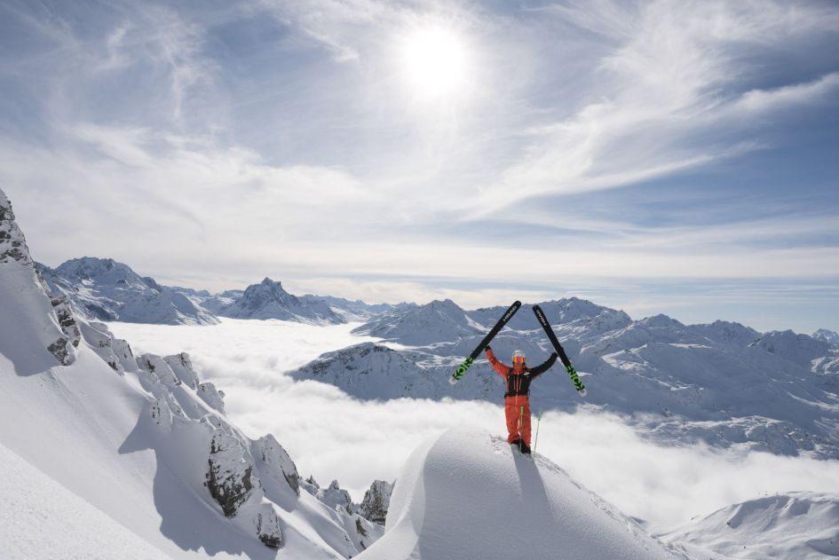 freeride, skier, alrberg, freeriding
