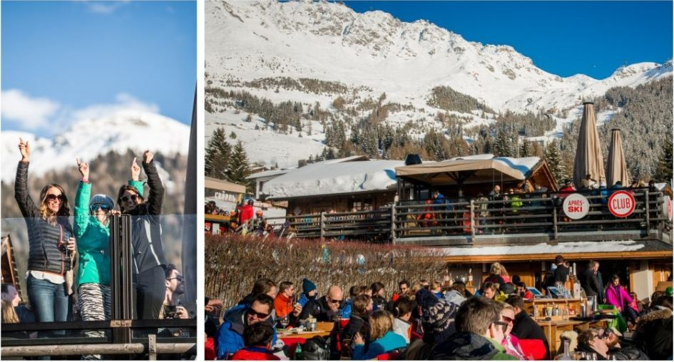 Verbier Apres ski at Le Rouge, apres ski Verbier