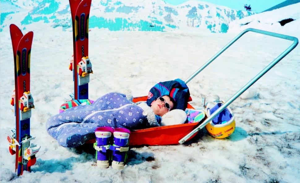Toddler, skiing, winter, skis