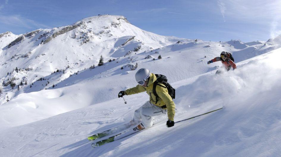 Skiing, winter, mountains, snow