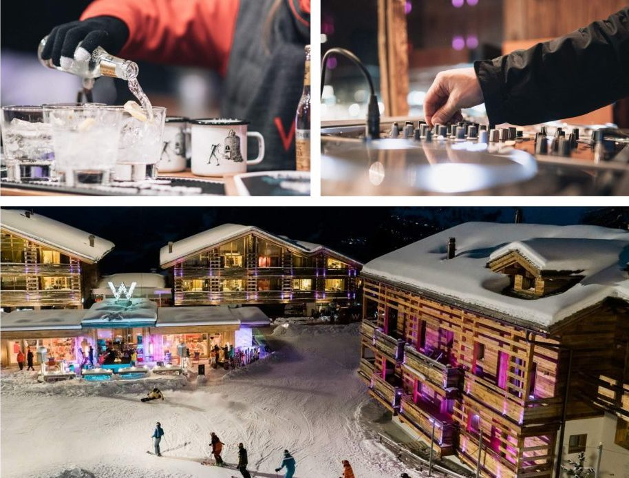 Drinks and DJ at W Off Piste Apres Bar in Verbier