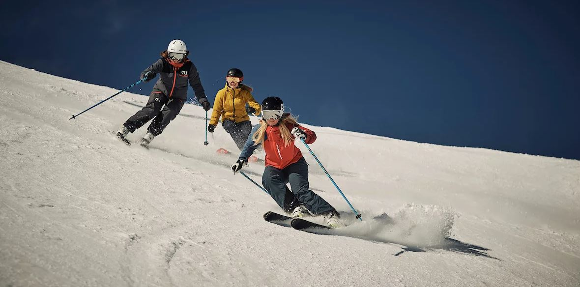 Hire an instructor.. Swiss Wall with a Ski Instructor. Ski Instructor for the Swiss Wall.