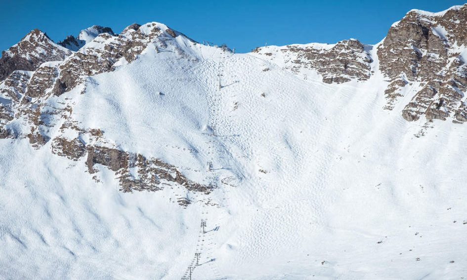 swiss wall, skiing the swiss wall.