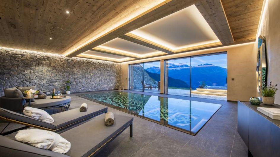 luxury swimming pools in Verbier, chalet swimming pool in Verbier, Verbier chalet with a swimming pool
