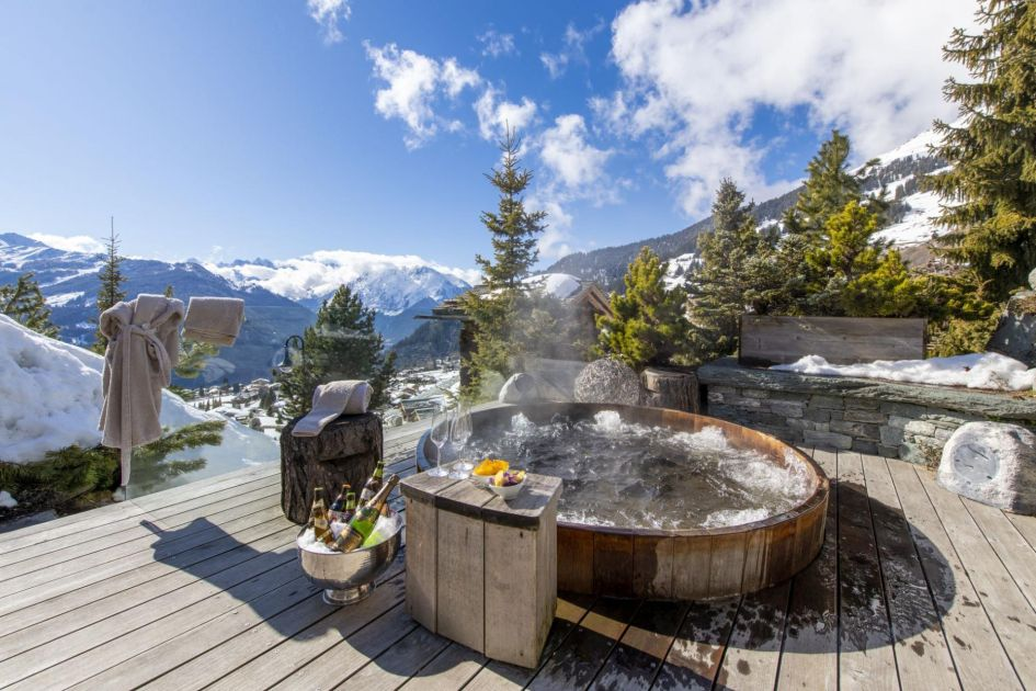 verbier chalets with a hot tub, verbier chalet with a hot tub, chalet with a hot tub in verbier